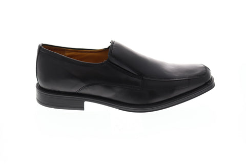 Giorgio Brutini Farro Mens Black Leather Casual Dress Slip On Loafers Shoes