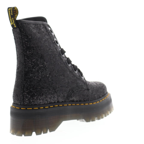 Dr. Martens Molly Womens Black Synthetic Casual Dress Lace Up Boots Shoes