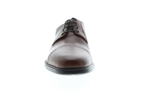 Bostonian Wenham Mens Brown Leather Casual Dress Lace Up Oxfords Shoes
