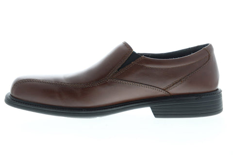 Bostonian Bolton 26025896 Mens Brown Wide 2E Leather Dress Slip On Loafers Shoes