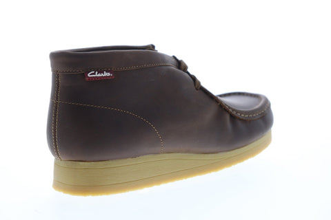 Clarks Stinson Hi 26063364 Mens Brown Leather Lace Up Chukkas Boots Shoes