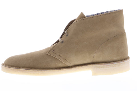 Clarks Desert Boot Core Mens Brown Suede Casual Dress Lace Up Chukkas Shoes