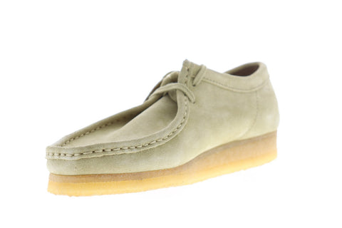 Clarks Wallabee 26103760 Mens Beige Suede Casual Slip On Loafers Shoes