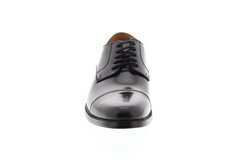 Bostonian Kinnon Cap 26110075 Mens Black Wide 2E Leather Cap Toe Oxfords Shoes