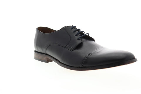 Bostonian Narrate Cap 26116111 Mens Black Leather Dress Lace Up Oxfords Shoes