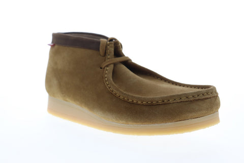 Clarks Stinson Hi 26116502 Mens Brown Suede Lace Up Casual Loafers Shoes