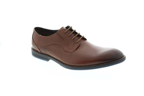 Clarks Prangley Walk 26123256 Mens Brown Leather Lace Up Plain Toe Oxfords Shoes