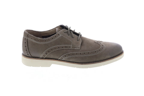 Clarks Pariden Wing 26125050 Mens Green Comfort Lace Up Wingtip Oxfords Shoes