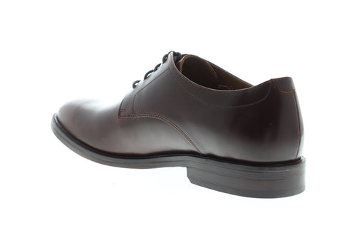 Clarks Mckewen Plain Mens Brown Leather Casual Dress Lace Up Oxfords Shoes