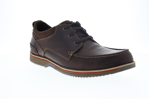 Clarks Katchur Edge 26127834 Mens Brown Leather Casual Lace Up Oxfords Shoes