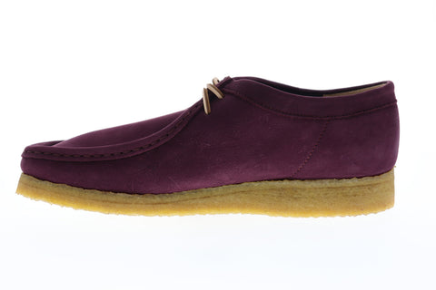Clarks Wallabee Mens Purple Nubuck Casual Dress Lace Up Chukkas Shoes
