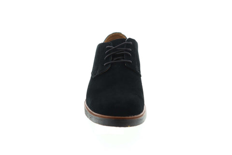Clarks Clarkdale Moon 26130763 Mens Black Suede Comfort Plain Toe Oxfords Shoes