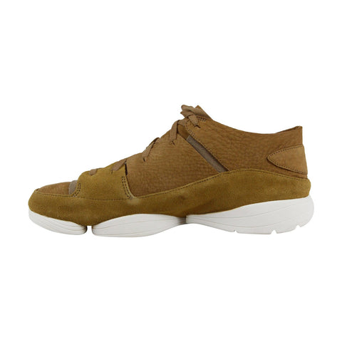 Clarks Trigenic Evo Mens Brown Nubuck Low Top Lace Up Sneakers Shoes