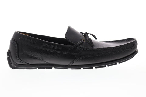 Clarks Benero Edge Mens Black Leather Casual Dress Lace Up Boat Shoes