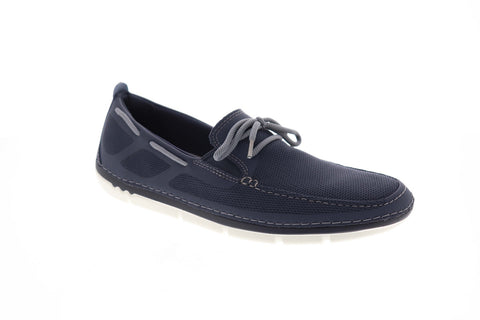 Clarks Step Maro Wave 26132594 Mens Blue Canvas Deck Casual Boat Shoes