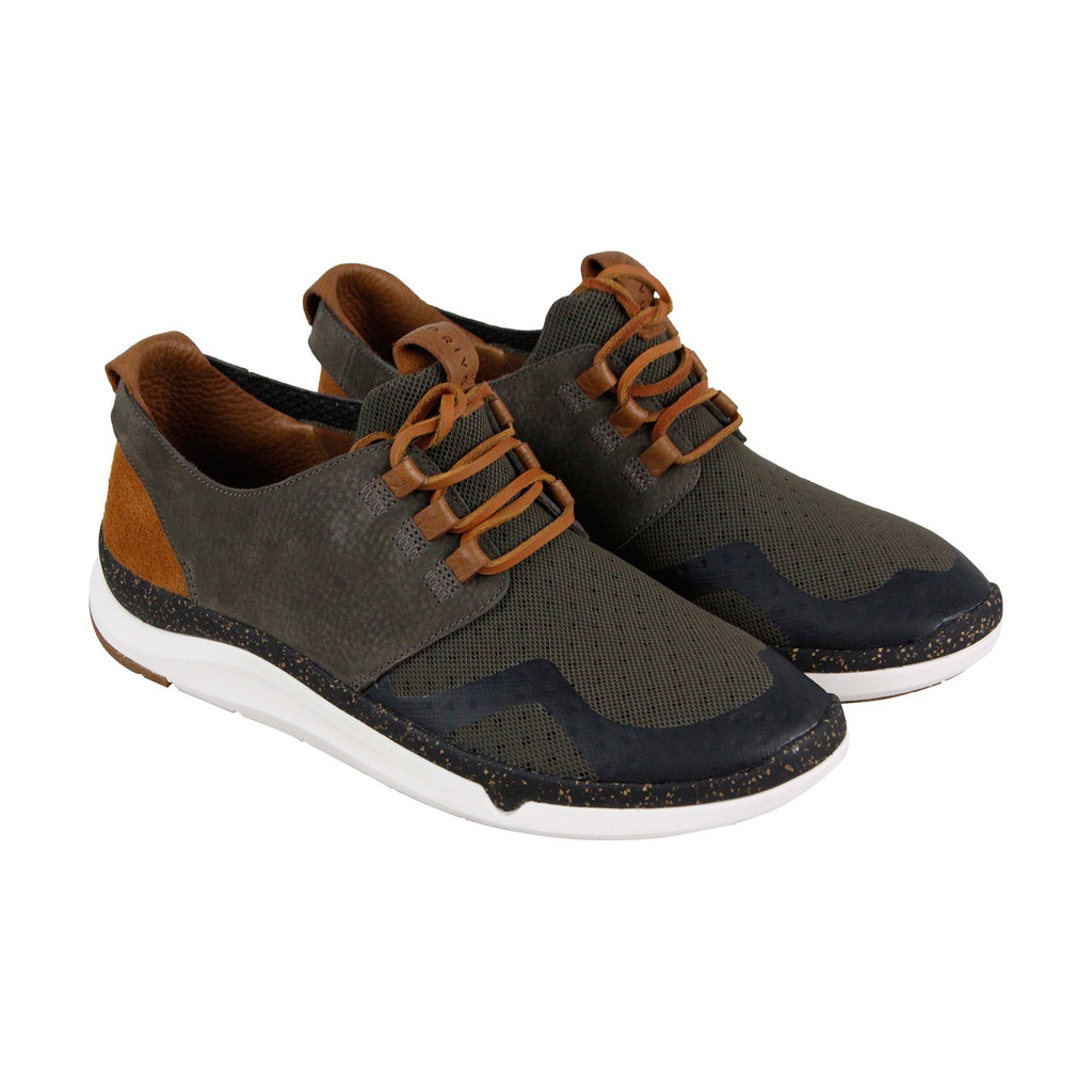 Leather Low Sneakers Mens Shoes Clarks Privo Gray Motion Top Meshamp; c5LAj3S4qR