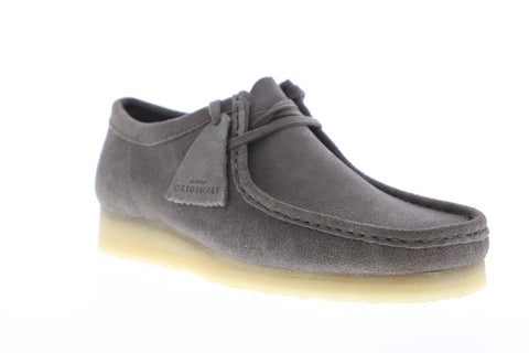 Clarks Wallabee Mens Gray Suede Casual Dress Lace Up Chukkas Shoes