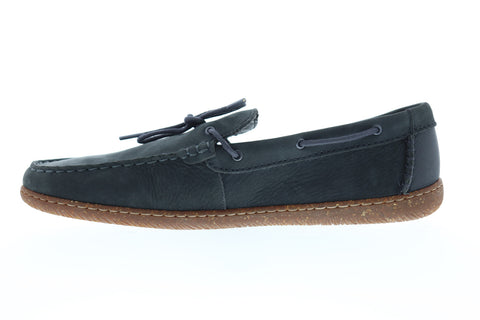 Clarks Saltash Edge Mens Gray Nubuck Casual Dress Lace Up Boat Shoes Shoes