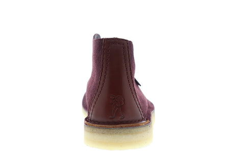 Clarks Deserttrek Hi Mens Purple Suede Casual Dress Lace Up Chukkas Shoes