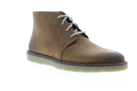 Clarks Grandin Mid 26136449 Mens Brown Leather Chukkas Lace Up Boots Shoes
