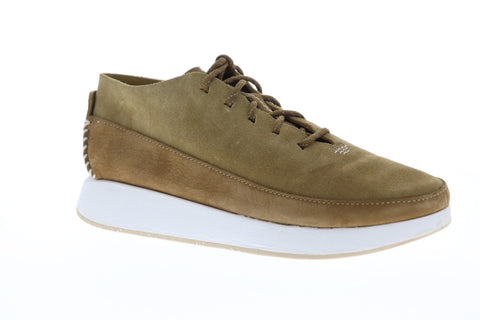 Clarks Kiowa Sport Mens Brown Suede Low Top Lace Up Sneakers Shoes
