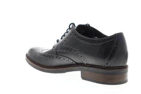 Bostonian Maxton Wing 26136622 Mens Black Leather Dress Lace Up Oxfords Shoes
