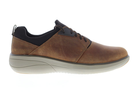 Clarks Un Rise Lo Mens Brown Leather Low Top Lace Up Sneakers Shoes