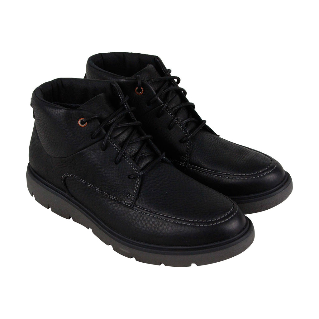 3ef86eeec93 Clarks Un Map Mid Gtx Mens Black Leather Casual Dress Lace Up Boots Shoes