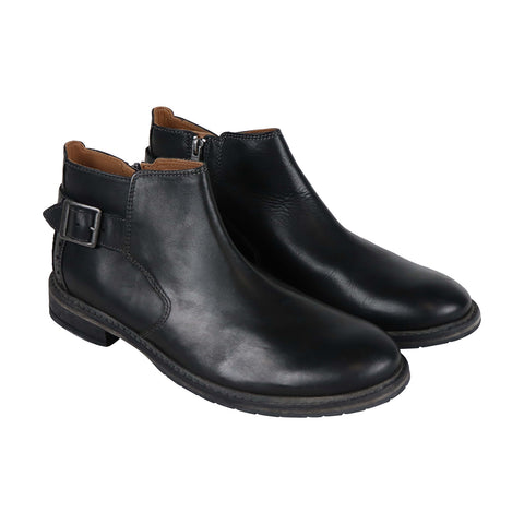 Clarks Clarkdale Remi Mens Black Leather Casual Dress Zipper Boots Shoes