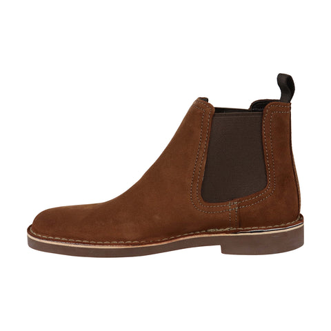 Clarks Bushacre Hill Mens Tan Suede Casual Dress Slip On Boots Shoes