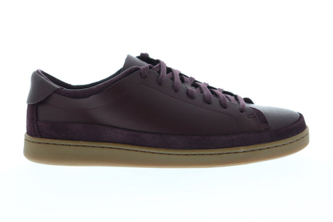 Clarks Nathan Craft Mens Purple Synthetic Low Top Lace Up Sneakers Shoes