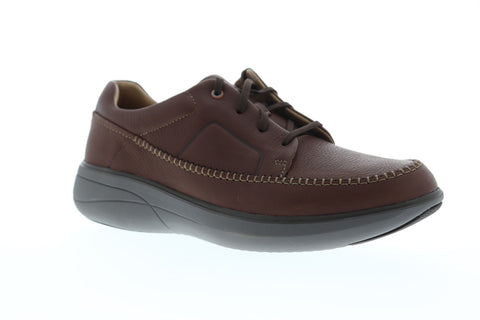 Clarks Un Rise Lace Mens Brown Leather Low Top Lace Up Sneakers Shoes