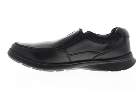 Clarks Cotrell Free 26137386 Mens Black Leather Casual Slip On Loafers Shoes