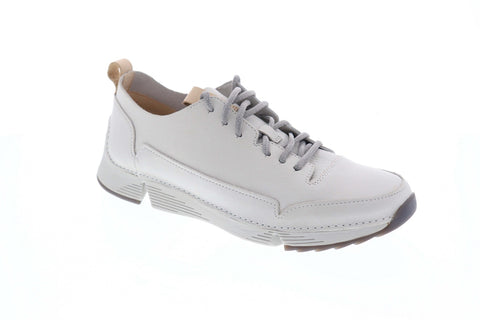 Clarks Tri Spark 26138908 Mens White Leather Comfort Lifestyle Sneakers Shoes