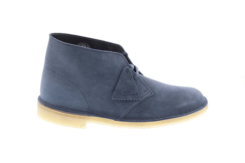 Clarks Desert Boot 26139226 Mens Blue Suede Comfort Lace Up Desert Boots Shoes