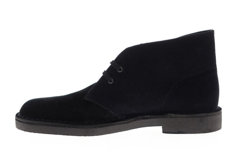 Clarks Bushacre 2 26139654 Mens Black Suede Lace Up Desert Boots Shoes