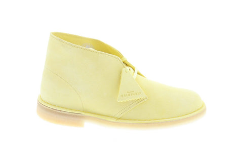 Clarks Desert Boot 26139870 Mens Yellow Suede Lace Up Chukkas Boots
