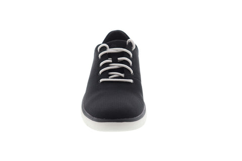 Clarks Tunsil Ace 26140332 Mens Black Canvas Lifestyle Sneakers Shoes