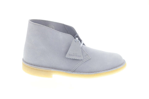 Clarks Desert Boot 26140929 Mens Blue Suede Comfort Lace Up Desert Boots