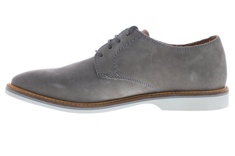 Clarks Atticus Lace 26141739 Mens Grey Nubuck Dress Lace Up Oxfords Shoes