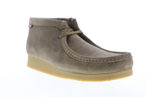 Clarks Stinson Hi 26142381 Mens Gray Suede Lace Up Chukkas Boots Shoes