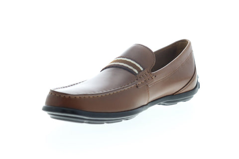Bostonian Grafton Driver 26142584 Mens Brown Leather Casual Slip On Loafers Shoes