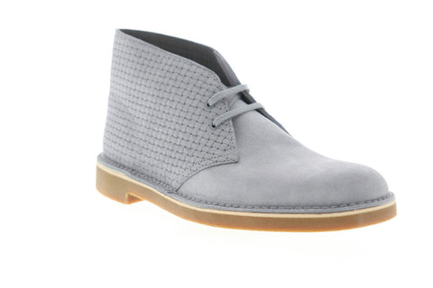 Clarks Bushacre 2 26143415 Mens Gray Suede Lace Up Desert Boots Shoes