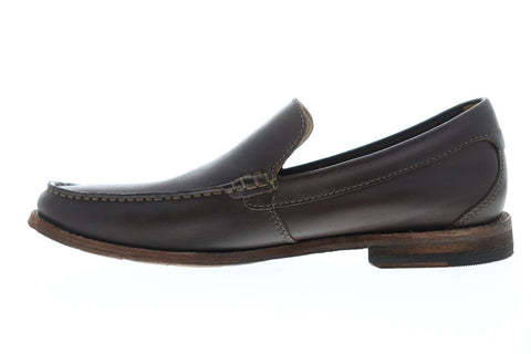 Clarks Pace Barnes 26144489 Mens Brown Leather Casual Slip On Loafers Shoes