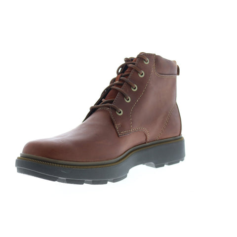 Clarks Dempsey Top 26144737 Mens Brown Leather Lace Up Casual Dress Boots