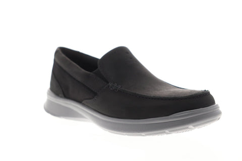Clarks Cotrell Easy 26145297 Mens Black Nubuck Casual Slip On Loafers Shoes