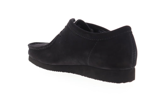 Clarks Wallabee GTX Supreme 26147140 Mens Black Suede Casual Loafers Shoes