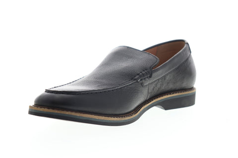 Clarks Atticus Edge 26148221 Mens Black Leather Slip On Casual Loafers Shoes