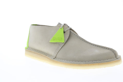 Clarks Desert Trek 26148603 Mens Gray Suede Casual Lace Up Oxfords Shoes