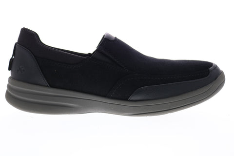 Clarks Stepstrolledge 26148970 Mens Black Suede Casual Slip On Loafers Shoes
